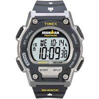 "Timex T5K195, Men's ""Ironman Triathlon"" 30-Lap Resin Watch, Alarm, T5K1959J"