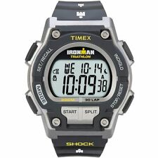 Timex T5K195, Men's Ironman 30-Lap Resin Watch, Alarm, Shock, Indiglo,  T5K1959J