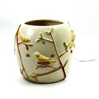 Scentsy, Inc. Small Ceramic Lamp Bird & Cut Out Design / Night Light