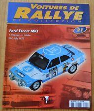 Voitures de rallye de collection, Altaya, n°21, Ford Escort Mk I, RAC Rally 1973