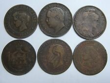 Lot 6 Coins France Romania Portugal Italy Copper Coins
