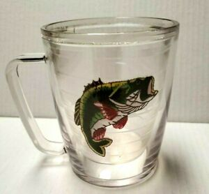 Tervis Tumbler Clear 16 oz. Cup Mug Big Mouth Fish Bass Coffee Tea Beer Hot Cold