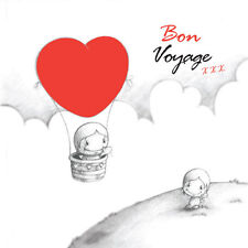 """Bon Voyage"" Card Cupids him/her Goodbye Leaving Go Away Journey Travel Farewell"