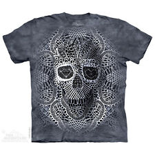 WOMEN'S PLUS SIZE T-SHIRT LACE SKULL MULTICOLOR STONEWASHED GRAPHIC TEE SIZE 2XL
