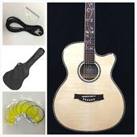Caraya All Flame Maple Body Electric-Acoustic Guitar w/EQ+Free Gig Gag |837CEQ/N