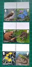 2018 Set of 6 Reintroduced Species Stamps USED