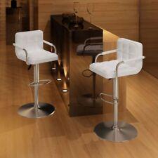 Vidaxl 2 pz sedie da Bar bianche con braccioli