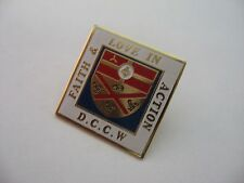 Nice D.C.C.W. Diocesan Council of Catholic Women Faith & Love in Action Pin