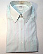 ARROW MEN'S SHORT SLEEVE FITTED DRESS SHIRT- SIZE 15 1/2-NEW OLD STOCK-USA MADE