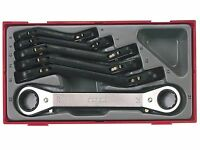 Teng Tools 6 Piece Ratcheting Ratchet Ring Spanner Wrench Set 6mm - 22mm + Case