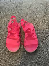 GIRLS PINK JELLY SHOES/SANDALS SIZE 2 NEXT GC