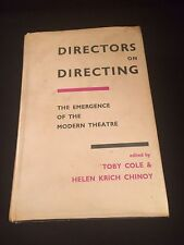 Vintage HCDJ Book Directors on Directing by Toby Cole & Helen K. Chinoy 1964