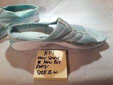 R17 Woman's Easy Spirit Mint Green Sea Foam Sandal Shoe Size 12 Wide