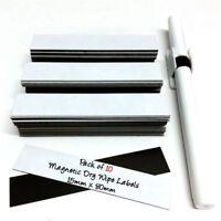 10 x Magnetic Dry Wipe Labels Whiteboard Precut - 15mm x 80mm