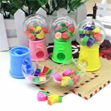 Fruit Shaped Eraser Creative Correction Supplies Candy Machine Rubber Stationery