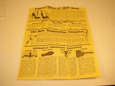 Vintage  CAPRICE Bondage  Discipline Products Catalog Dominatrix Adult Material