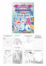 6 Mermaid Puzzle Activity Books - Pinata Toy Loot/Party Bag Fillers Wedding/Kids