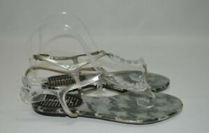 Chanel CC logo Charm clear chain Shoes sandals Flats Size Women's 37 7