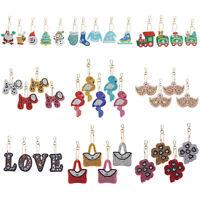 4/5pcs DIY Diamond Painting Keychain Key Chains Keyring Art Craft Keyring Kits