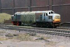 OO gauge scrapyard Class 37 diesel loco, heavily  rusted and weathered