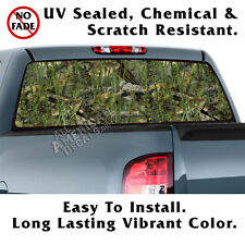 Real Bass CAMO BACK Window Graphic Perforated Film Decal Truck SUV