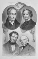 PRIME MINISTER EARL DERBY GEORGE HAMILTON EDWARD STANLEY ~ 1858 Print Engraving