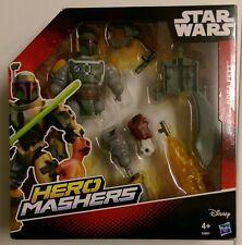 Star Wars Héroe Mashers Deluxe Boba Fett Nuevo TFA han Rey Kylo Chewbacca Máscara