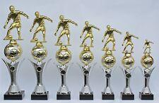 7er Serie Pokale Pokal Fußball mit Figur und Ball -  inkl.Gravuren