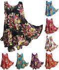 13 Colors Hippie Lagenlook Tunic Top Dress Boho Kaftan Size 18 20 22 24 26 28 30