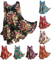 23 Colors Hippie Lagenlook Tunic Top Dress Boho Kaftan Size 18 20 22 24 26 28 30