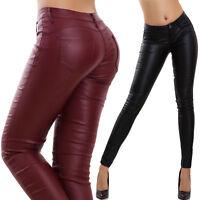Pantaloni donna elasticizzati aderenti push up eco pelle elasticizzati sexy F049