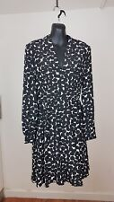 Kate Spade Black and White Polka Dot Silk Long Sleeve Dress Size US 4 RRP£299
