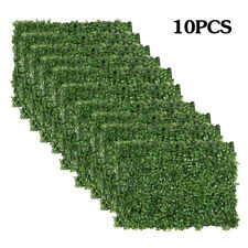 10pcs Artificial Privacy Fence Grass Panel Boxwood Mat Wall Hedge Decor