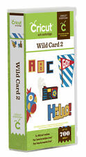CRICUT *WILD CARD 2*  ART CARTRIDGE *SPRING SUMMER ENVELOPES PHRASES FONT* NEW