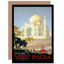 Travel Canadian Pacific Taj Mahal India Advert Bday Blank Greeting Card