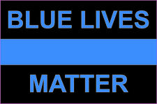 Blue Lives Matter support Police thin blue line sticker decal sheriff