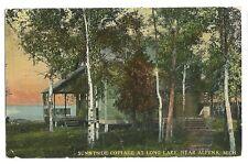 Sunnyside Cottage Long Lake Alpena MI Michigan  Postcard