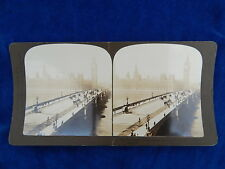 STEREOVIEW - H.C. WHITE CO - 2531 WESTMINSTER BRIDGE LONDON  - TOP !