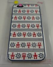 fits iPhone 6 plus phone case lobster nautical theme red white blue