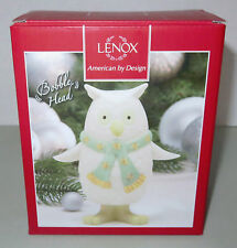 Lenox Holiday Bobbles - Bobble Head Owl Winter Christmas Figurine In Box Vguc