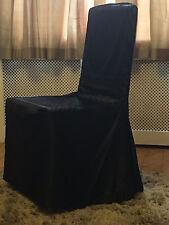Banquete Silla Grande De Satén 50 cubre-Negro bodas fiestas Al por mayor Lote de Trabajo