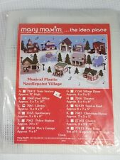 Mary Maxim Musical Village Plastic Canvas  Needlepoint #7061 Library DD888