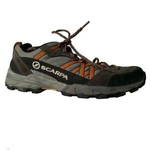 Scarpa Epic Trail Runner Hiking Shoes Men's 9 Women's 10 Pewter Orange Black