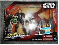 Star Wars Hero Mashers Jedi Speeder and Anakin Skywalker TRG Brand - Hasbro New