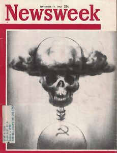 1961 Newsweek September 11 Russia threatens the world - Rare alternate cover