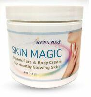 Organic Face Cream Skin Magic- Moisturizing Face and Body Cream for Dry Skin 4oz