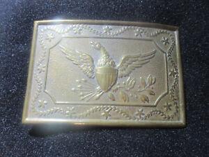 Original Civil War Eagle Milita Style Belt Plate Buckle