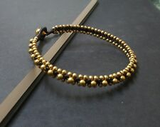 Wax Cord Brass Anklet