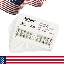 Azdent Dental Orthodontic Brackets Metal Brace Mini Roth Slot022 Hooks 3 4 5