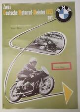 BMW Vintage Motorcycle Poster - 1953 RARE #62717d